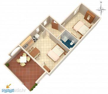 Apartment A-523-a - Apartments Mandre (Pag) - 523