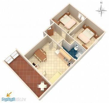 Apartment A-523-c - Apartments Mandre (Pag) - 523