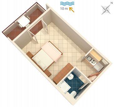 Studio flat AS-5231-a - Apartments Uvala Pokrivenik (Hvar) - 5231
