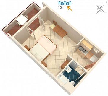 Studio AS-5231-b - Apartamenty Uvala Pokrivenik (Hvar) - 5231