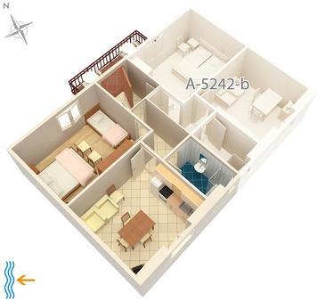 Apartament A-5242-a - Apartamenty Milna (Brač) - 5242