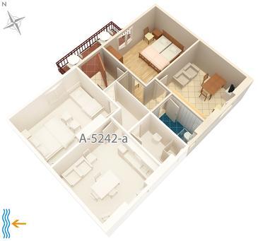 Apartament A-5242-b - Apartamenty Milna (Brač) - 5242