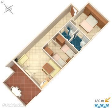 Apartment A-5244-a - Apartments Okrug Donji (Čiovo) - 5244