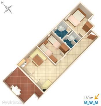 Apartment A-5244-b - Apartments Okrug Donji (Čiovo) - 5244