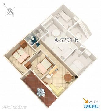 Mimice, Plan u smještaju tipa apartment, dopusteni kucni ljubimci i WIFI.