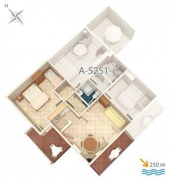 Apartament A-5251-d - Apartamenty Mimice (Omiš) - 5251