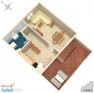 Okrug Gornji, Plan u smještaju tipa house, WIFI.