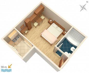 Studio AS-5266-c - Apartamenty Igrane (Makarska) - 5266