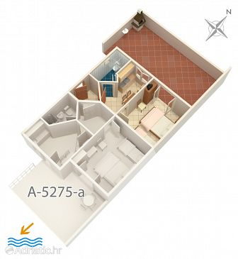 Apartment A-5275-b - Apartments Duće (Omiš) - 5275