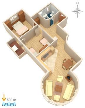 Apartament A-5282-b - Apartamenty Biograd na Moru (Biograd) - 5282