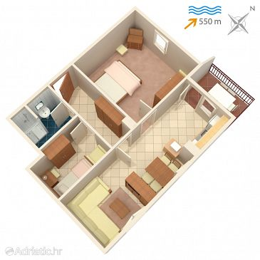 Apartment A-5303-a - Apartments and Rooms Malinska (Krk) - 5303