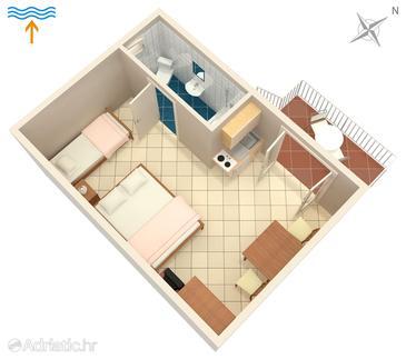 Studio flat AS-5309-a - Apartments Njivice (Krk) - 5309