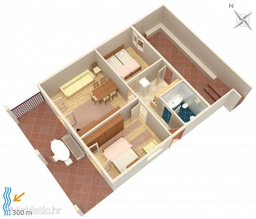 Apartment A-5312-a - Apartments Njivice (Krk) - 5312