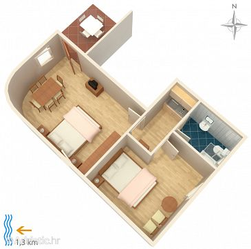 Apartment A-5323-a - Apartments and Rooms Sveti Vid (Krk) - 5323
