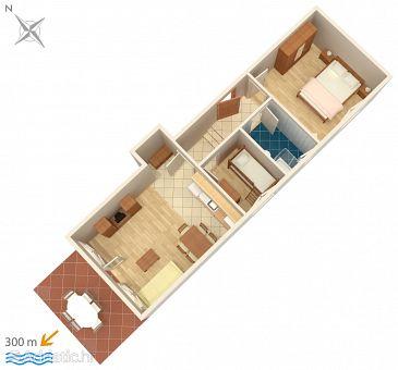 Apartment A-5343-d - Apartments Punat (Krk) - 5343