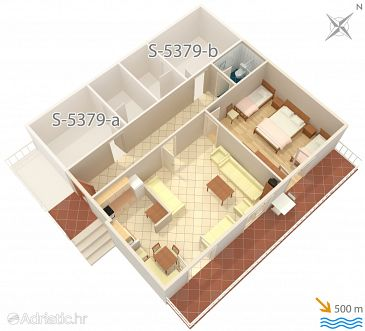 Apartment A-5379-a - Apartments and Rooms Punat (Krk) - 5379