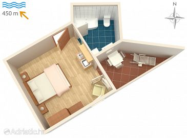 Studio flat AS-5395-a - Apartments Malinska (Krk) - 5395