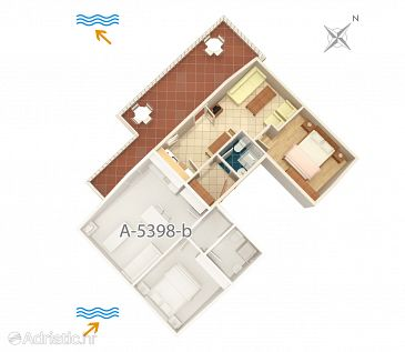 Apartment A-5398-a - Apartments and Rooms Njivice (Krk) - 5398