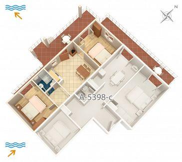 Apartament A-5398-d - Kwatery Njivice (Krk) - 5398
