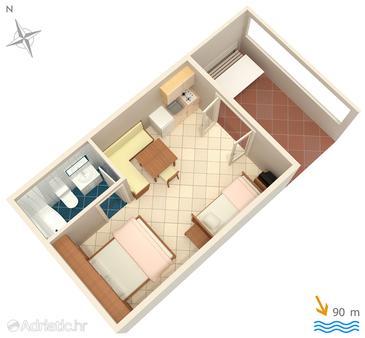 Studio flat AS-5403-b - Apartments and Rooms Vrbnik (Krk) - 5403