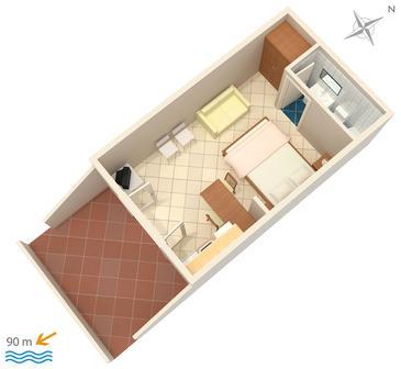 Studio flat AS-5403-g - Apartments and Rooms Vrbnik (Krk) - 5403