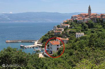 Objekt Vrbnik (Krk) - Ubytovanie 5459 - Ubytovanie blízko mora s kamienkovou plážou.