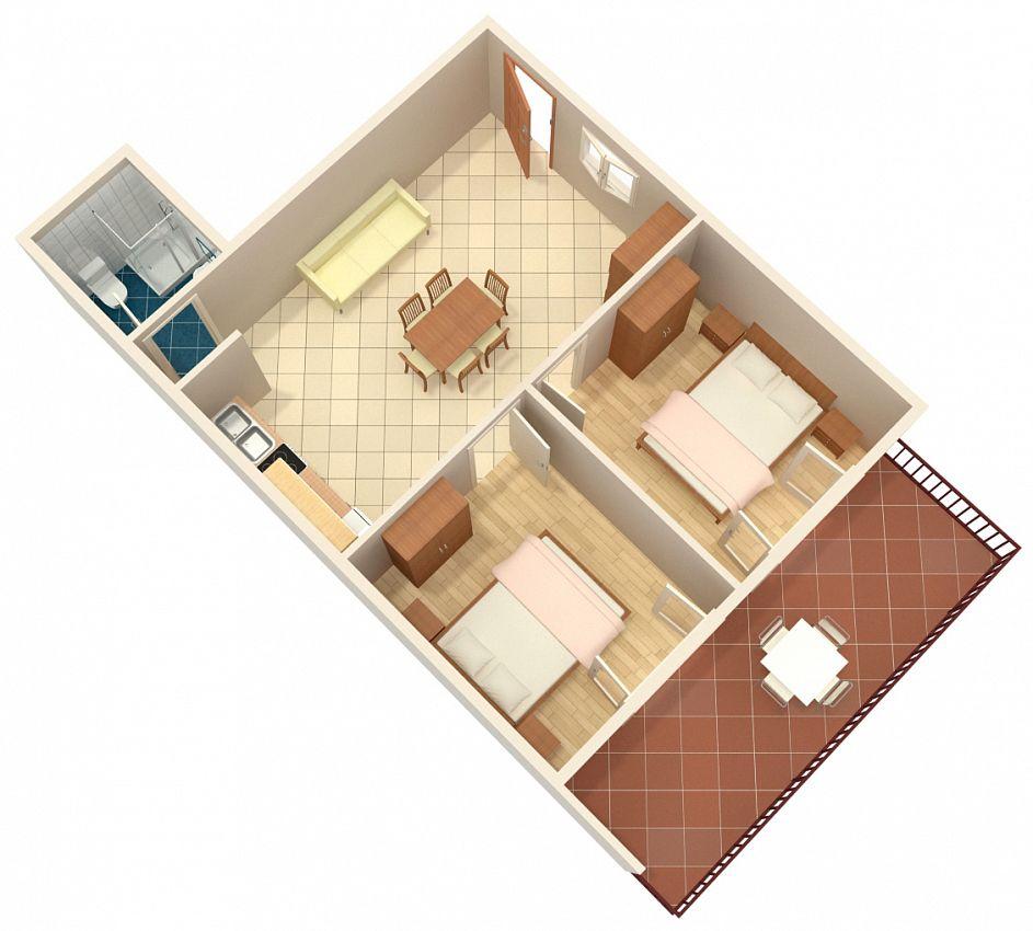 Apartmán v meste Zavalatica - 547