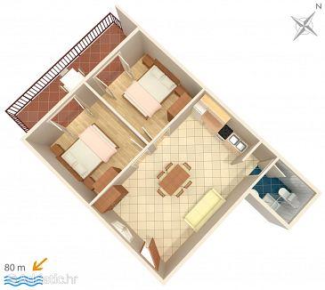Apartmán A-547-a - Ubytování Zavalatica (Korčula) - 547