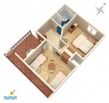 Apartament A-5486-a - Apartamenty Novi Vinodolski (Novi Vinodolski) - 5486