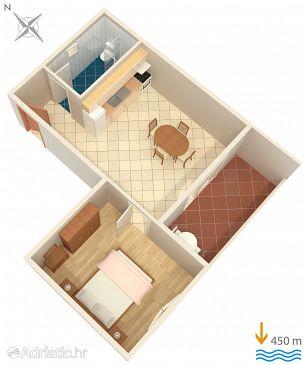 Hvar, Plan u smještaju tipa apartment, WIFI.