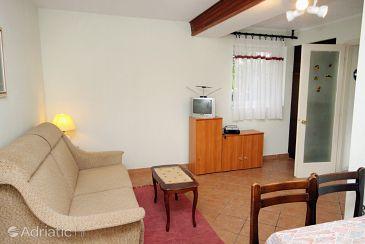 Dramalj, Living room u smještaju tipa apartment, dopusteni kucni ljubimci i WIFI.