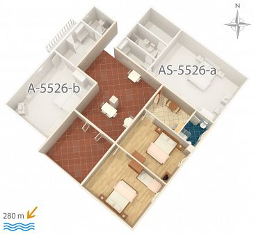 Apartament A-5526-a - Apartamenty Novi Vinodolski (Novi Vinodolski) - 5526