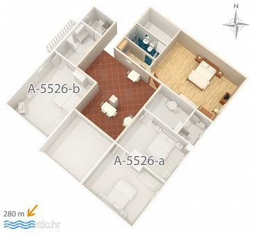 Studio flat AS-5526-a - Apartments Novi Vinodolski (Novi Vinodolski) - 5526
