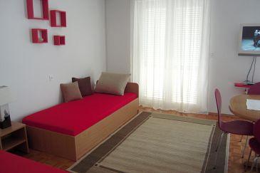 Novi Vinodolski, Living room u smještaju tipa apartment, dopusteni kucni ljubimci i WIFI.