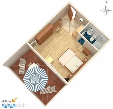 Studio flat AS-5545-b - Apartments and Rooms Novi Vinodolski (Novi Vinodolski) - 5545