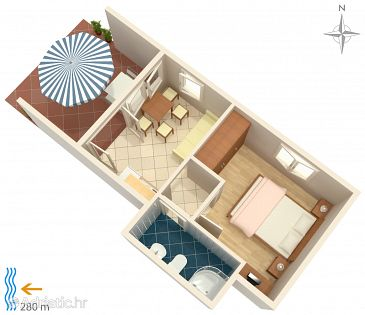 Apartment A-5548-b - Apartments Klenovica (Novi Vinodolski) - 5548