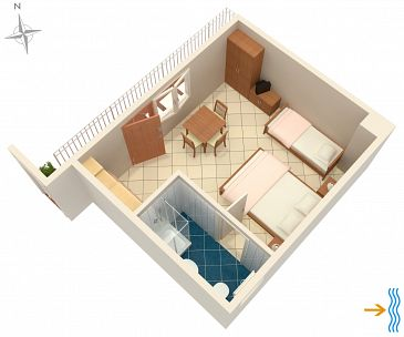 Studio AS-5550-b - Apartamenty Selce (Crikvenica) - 5550