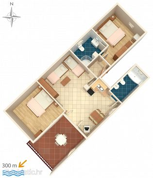 Apartment A-5560-a - Apartments and Rooms Senj (Senj) - 5560