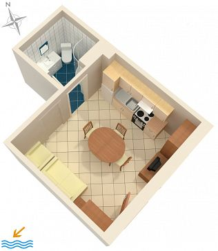 Studio flat AS-5570-a - Apartments Senj (Senj) - 5570