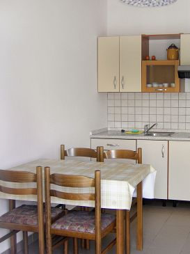 Klenovica, Dining room u smještaju tipa apartment, dopusteni kucni ljubimci i WIFI.