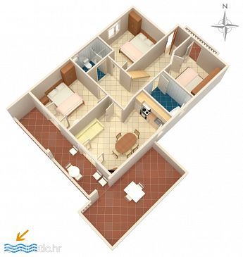 Apartment A-5594-b - Apartments Dramalj (Crikvenica) - 5594