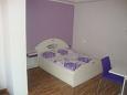 Dramalj, Bedroom u smještaju tipa studio-apartment, dopusteni kucni ljubimci i WIFI.