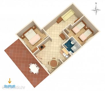 Apartment A-5600-a - Apartments Novi Vinodolski (Novi Vinodolski) - 5600