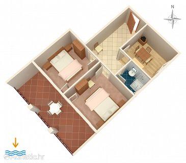 Novi Vinodolski, Plan u smještaju tipa apartment.