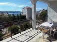 Novi Vinodolski, Terrace u smještaju tipa apartment, s pogledom na more.