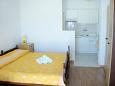 Bol, Sypialnia u smještaju tipa studio-apartment, dostupna klima, dopusteni kucni ljubimci i WIFI.