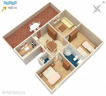 Supetar, Plan u smještaju tipa apartment, WIFI.
