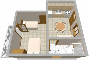 Apartment A-566-a - Apartments Sućuraj (Hvar) - 566
