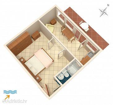 Apartment A-5691-b - Apartments Jelsa (Hvar) - 5691