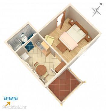 Studio flat AS-5691-a - Apartments Jelsa (Hvar) - 5691